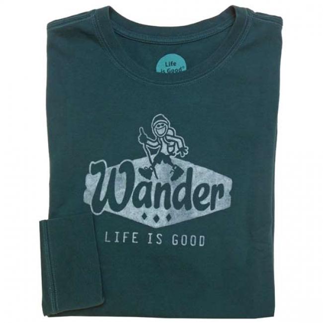 Life is Good Men's Long Sleeve Wander Crusher Tee