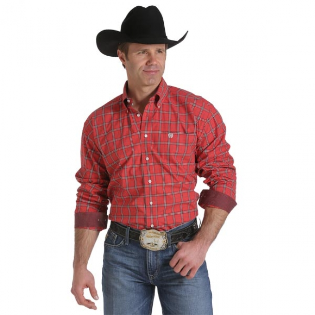 5aa7947a Cinch Western Shirt in Red Plaid