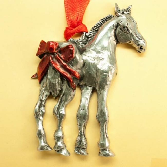 Pony Present Ornament by Loriece Jewelry