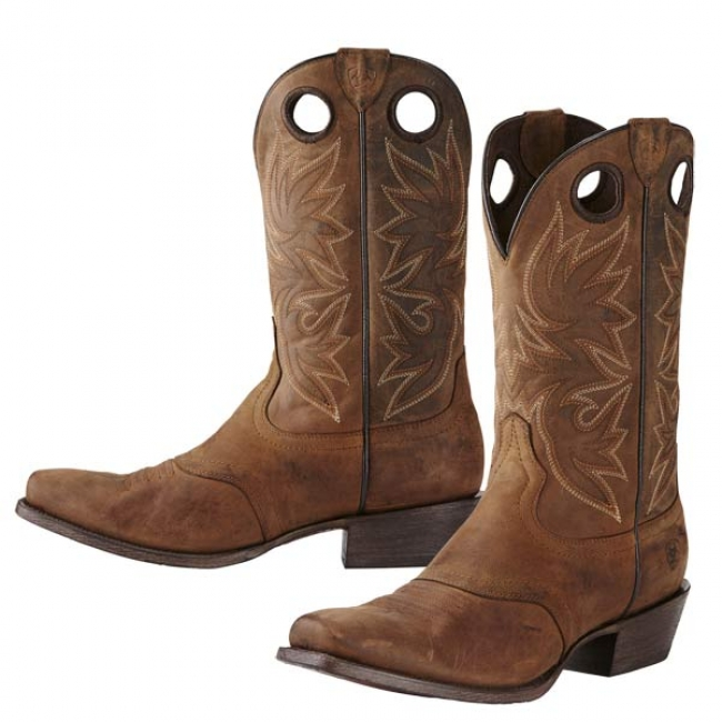 Men/'s Square Toe Western Cowboy Boots Square Toe