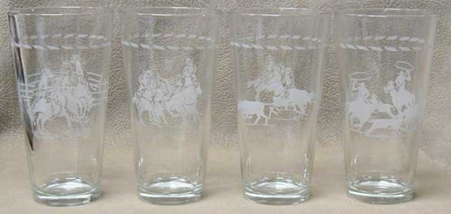 Western Motif Tavern Glasses
