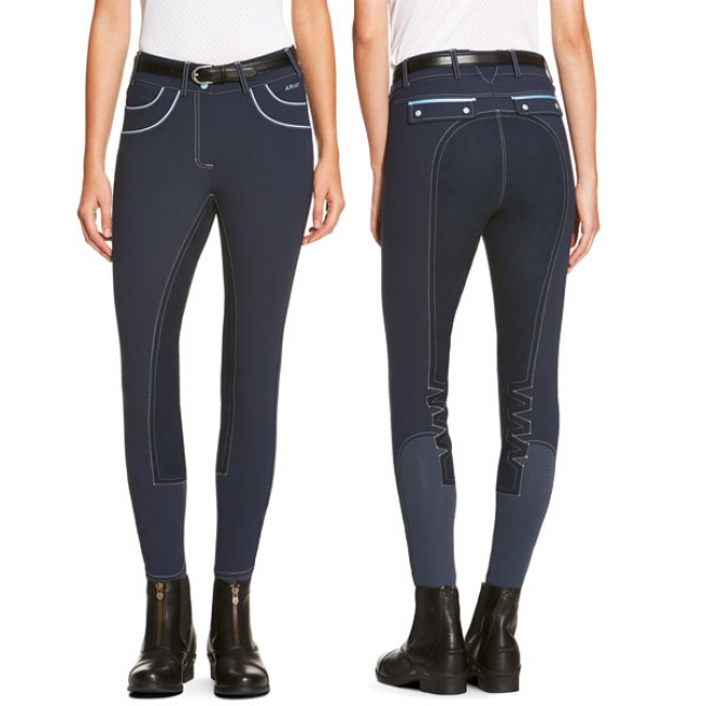 Ariat Olympia Acclaim Full Seat Breeches in Navy