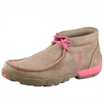 Twisted X Driving Shoes with Pink Ribbon