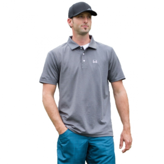 c49cced7 Cinch Arenaflex Gray Athletic Polo