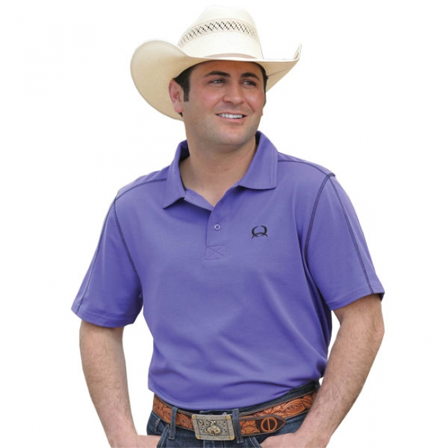 5a94c03d Cinch Arenaflex Purple Athletic Polo