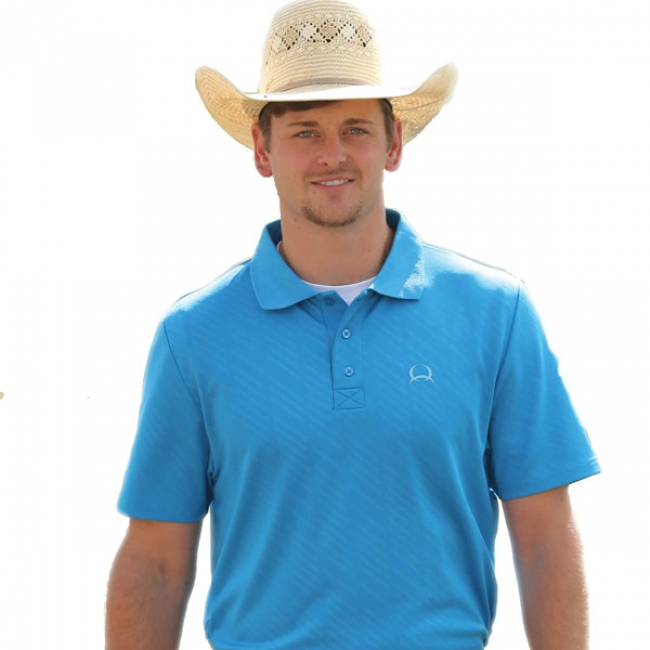 594f00e3 Cinch Arenaflex Blue Athletic Polo
