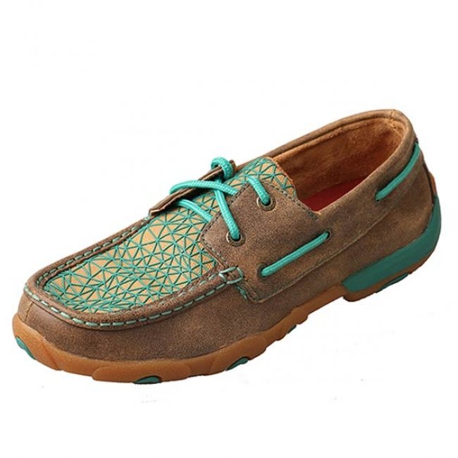 50cb1dbd8cc Twisted X Women s Driving Moccasins in Bomber Turquoise