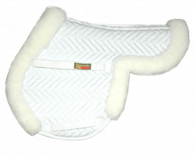 Fleeceworks Close Contact Sheepskin Pad with Partial Trim