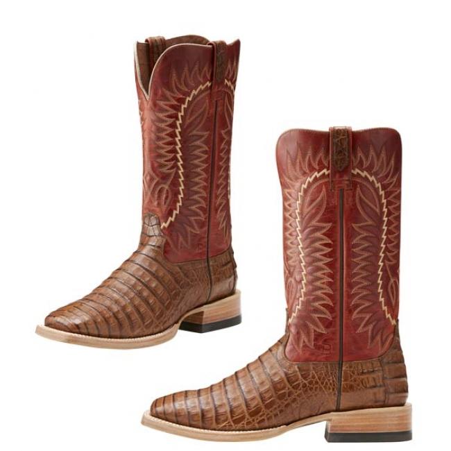 40aa0e4735a Ariat Relentless Caiman Belly Cowboy Boot Brown