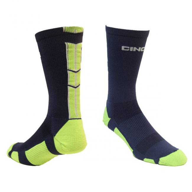 Cinch Navy and Green Socks