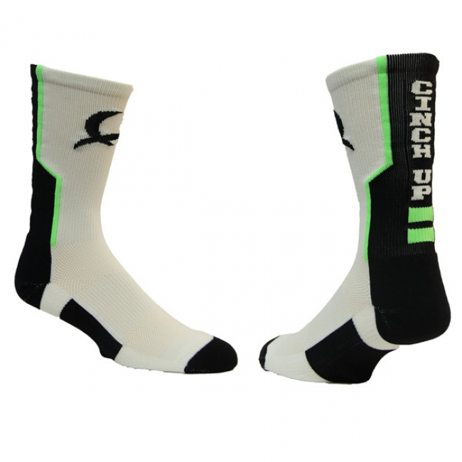 Cinch White Logo Socks