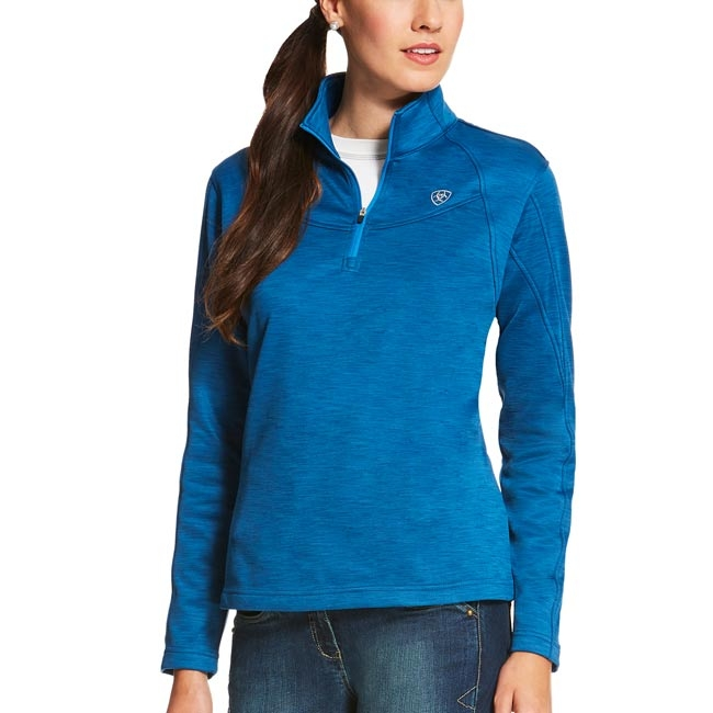 Ariat Conquest 1/4 zip pullover in Rush of Blue