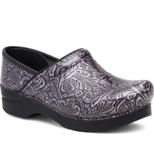 f7e3ebaea9752 Dansko Professional Clogs for Women Grey Tooled