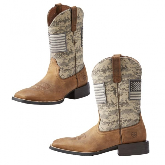 25508b8dde2df Ariat Mens Sport Patriot Cowboy Boots