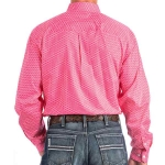Cinch Pink Patterned Button Down