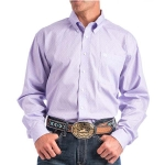 Cinch Lilac Patterned Button Down Shirt