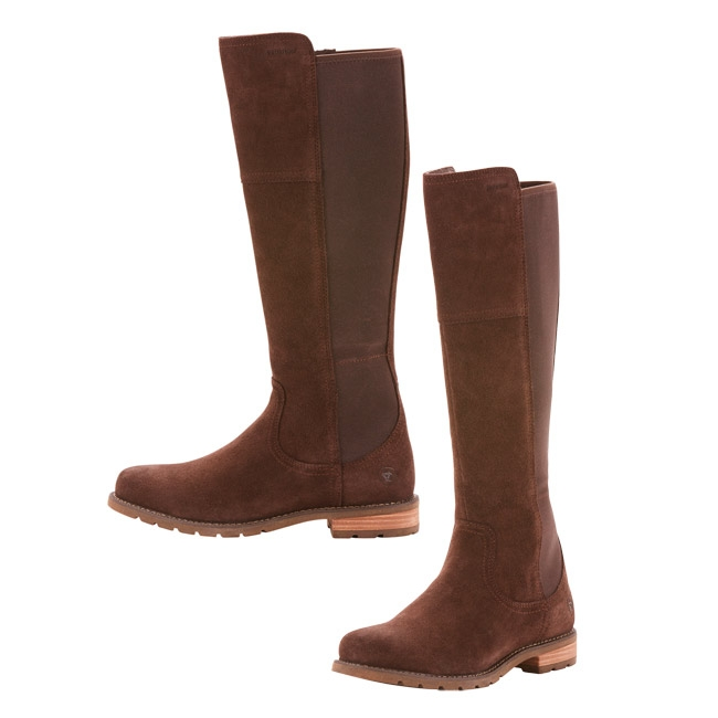 Ariat Womens Sutton H2O Tall Boots in Chocolate