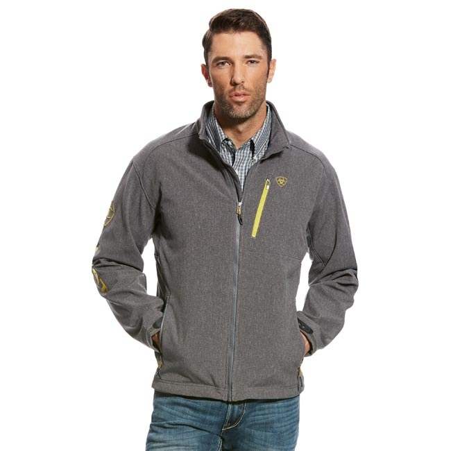 Ariat Mens Logo 2.0 Softshell Jacket in Charcoal