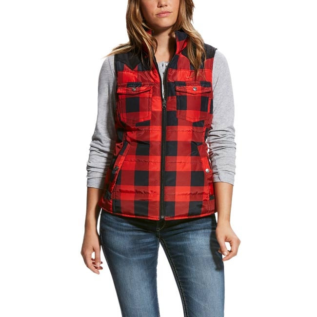 Ariat Ladies Buffalo Plaid County Vest