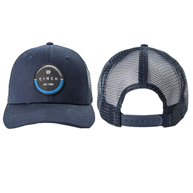 696ca9ff Cinch Navy Circular Logo Truckers Hat