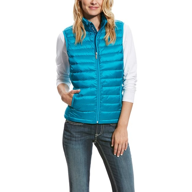 Ariat Womens Atomic Blue Ideal Down Vest