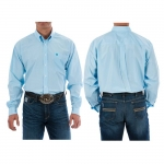 Cinch Classic Fit Striped Button Down in Light Blue