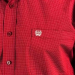 Cinch Checkered Button Down in Burgundy