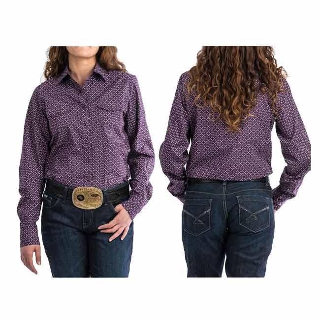 e998ec46ce8 Cinch Ladies Purple Patterned Pearl Snap Shirt