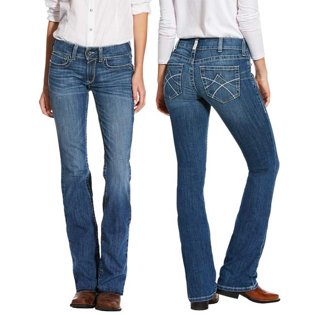 8fabffe215e4 Ariat REAL Jasmine Mid Rise Boot Cut Jeans