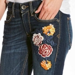Ariat Womens Boyfriend Bloom Denim Jeans