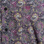 Cinch Black/Purple/Green Paisley Button Down Shirt