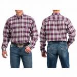 Cinch Purple Plaid Button Down Shirt