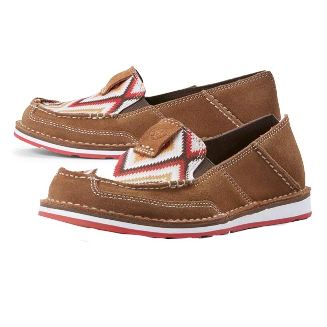 27c9b068 REGULAR PRICE: $89.95. CURRENT PRICE: $79.95. YOU SAVE: $10.00. Ariat  Womens Aztec Cruiser Shoes Red Aztec