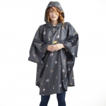 Joules Showerproof Packable Poncho in Dog Print