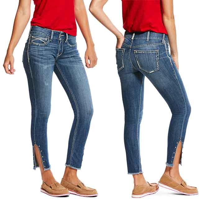 Ariat REAL Mid Rise Skinny Jeans Hazel