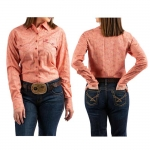 Cinch Coral Paisley Snap Shirt for Women