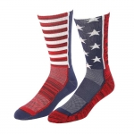 Cinch Crew Socks - Red/White/Blue Cinch Up