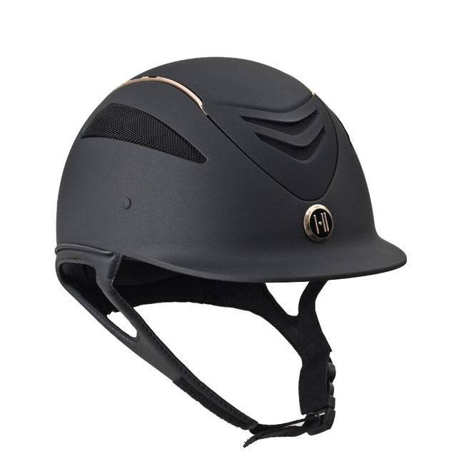 One K Defender Helmet – Matte Black/Rose Gold