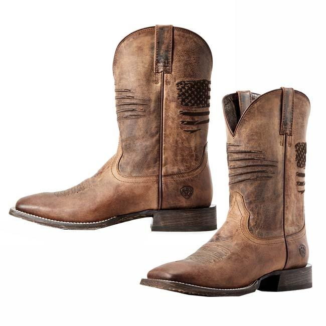 9c89c77fe59 Ariat Men's Circuit Patriot Wide Square Toe Boots