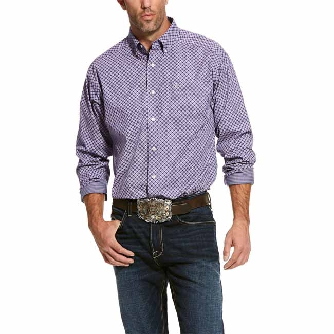 Ariat Men's Valazquez Classic Fit Print Shirt – Wrinkle Free