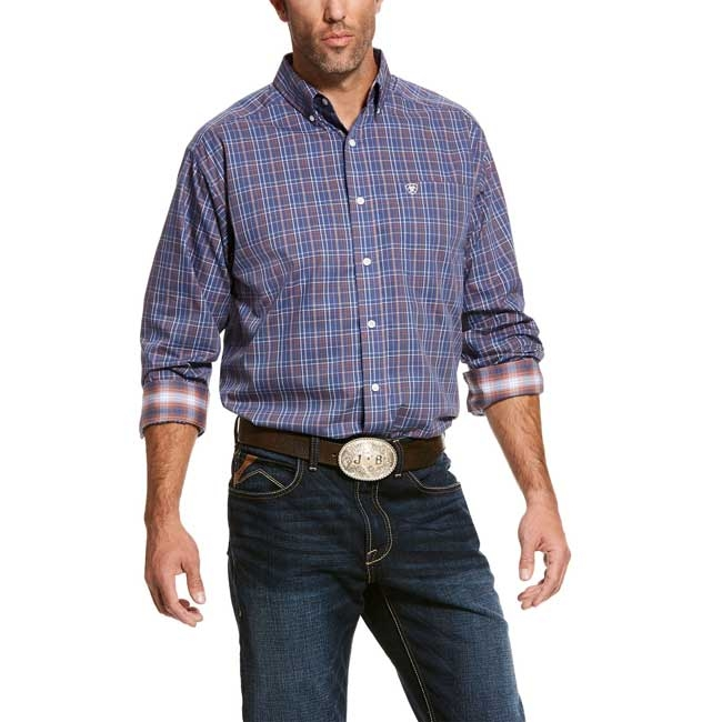 Ariat Men's Valderes Classic Fit Plaid Shirt – Wrinkle Free