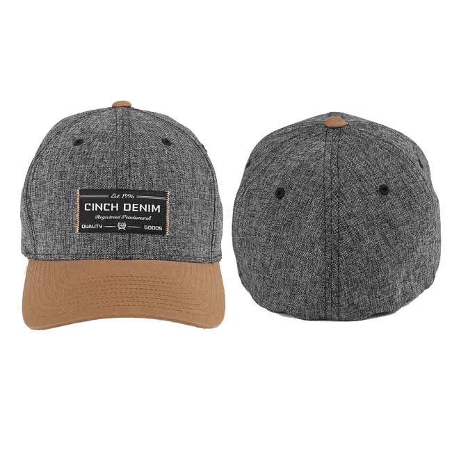 Cinch Heather Gray Color Blocked FLEXFIT Hat