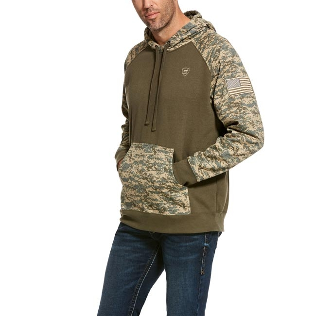 Ariat Men's Patriot Hoodie - Sage Camo