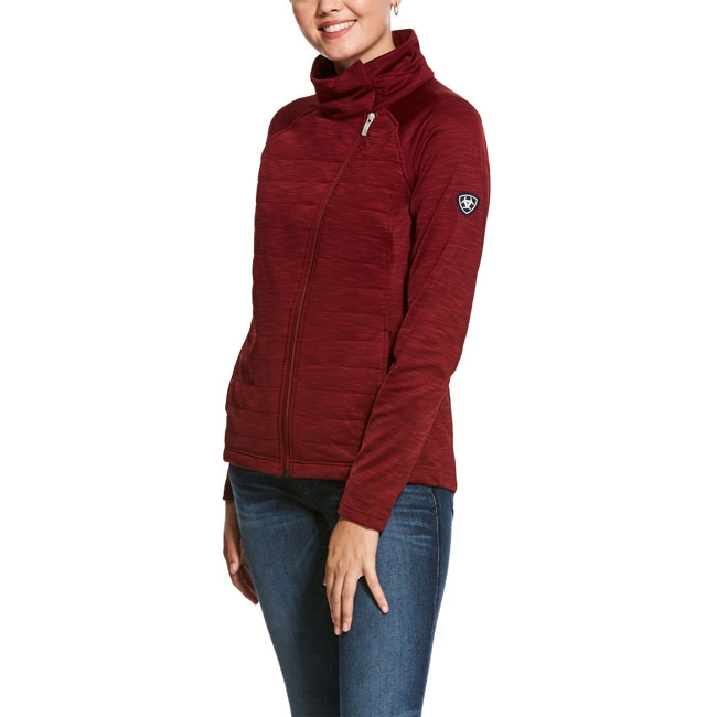 Ariat Women's Vanquish Full Zip Jacket - Cabernet