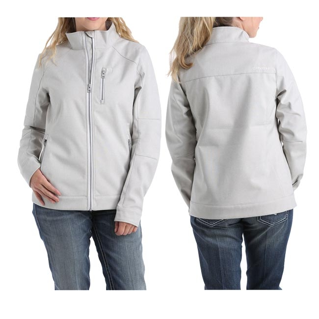 Cinch Ladies' Heather Gray Bonded Jacket