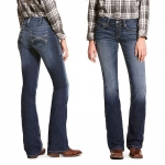 Ariat REAL Margot Mid Rise Stretch Straight Leg Jeans