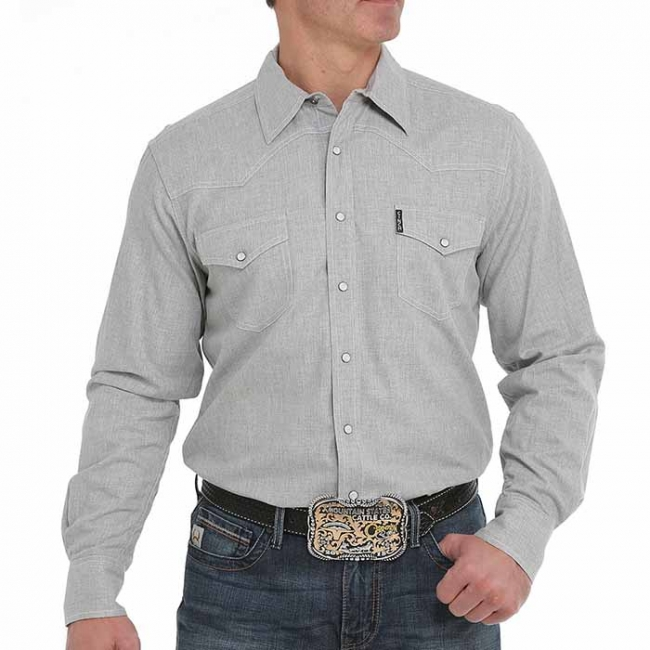 Cinch Grey Western Snap Shirt in Modern Fit