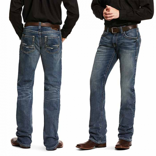 Ariat M5 Slim Stretch Adkins Boot Cut Jeans for Men