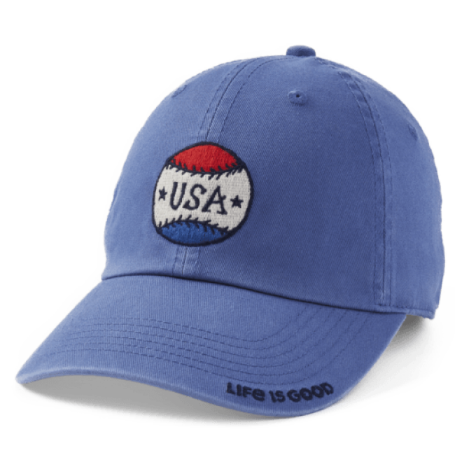Life Is Good USA Baseball Chill Cap in Blue