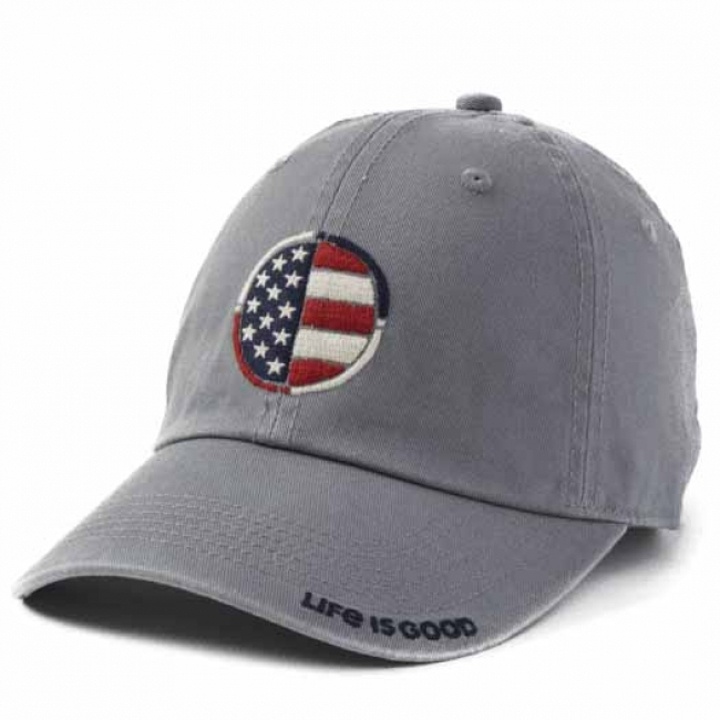 Life Is Good Flag Coin Chill Cap in Gray